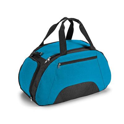 amora-brindes - Bolsa esportiva de nylon 600. Divisória interior, bolso frontal, fundo com placa semi rígida e personalizada