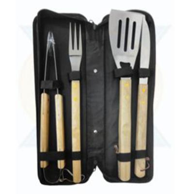 Kit churrasco personalizado, 4 peças, com estojo - You Brindes