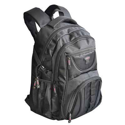 Mochila notebook com vários bolsos e porta acessórios com personalização.