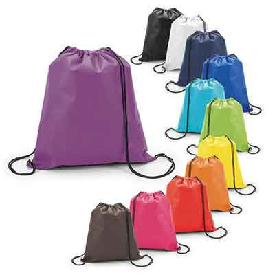 Sacola - tipo mochila, em TNT 80grs e personalizada