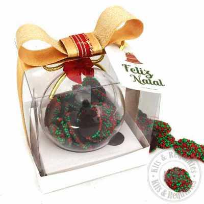 Bola de Natal com Dragees