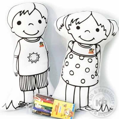Almofada personalizada para pintar com recorte especial Dia das Crianças