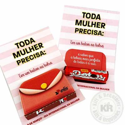 Card personalizado com baton chocolate