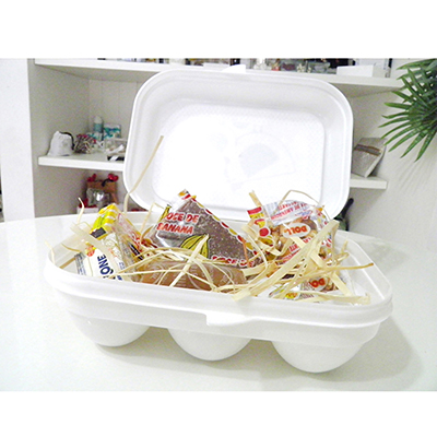 Caixa de ovos personalizada e decorada com tecido - Kits & Requintes