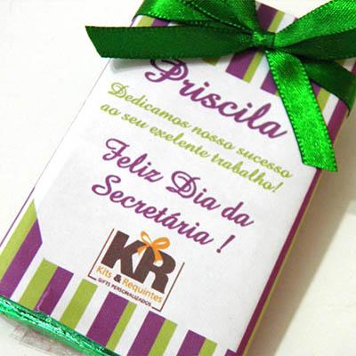 Kits & Requintes - Barrinha de chocolate ao leite personalizada.