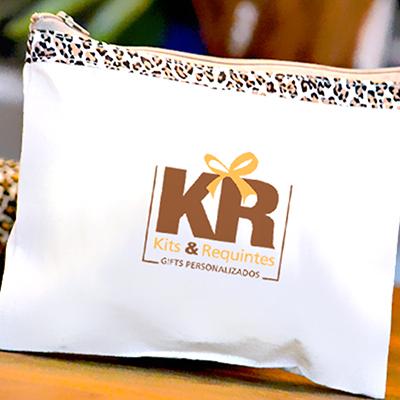 kits-e-requintes - Nécessaire personalizada. Com detalhes de oncinha, 100% algodão