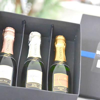 Kit champanhe personalizado.