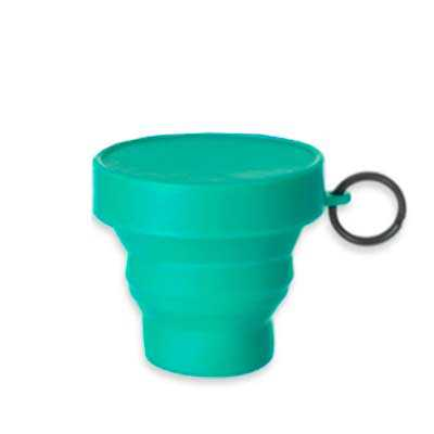 art-stillos - Copo retrátil 150ml de borracha termoplástica, possui tampa de encaixe com argola plástica.  Altura :  7,2 cm  Largura :  9 cm  Circunferência :  20,5...