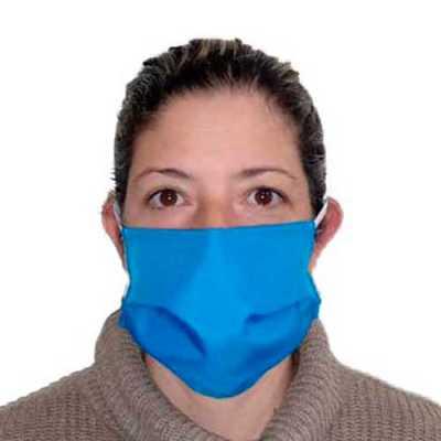 Máscara tecido oxford dupla lavável