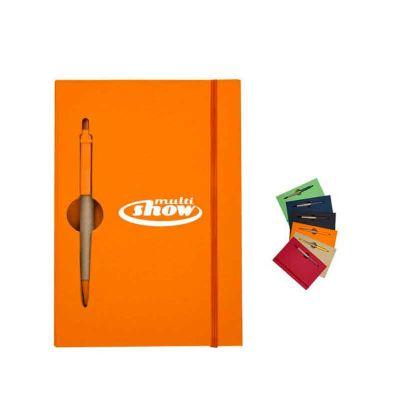 ablaze-brindes - Bloco de anotações com caneta ecológica