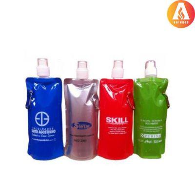 ablaze-brindes - Squeeze Dobrável, material plástico 480 ml