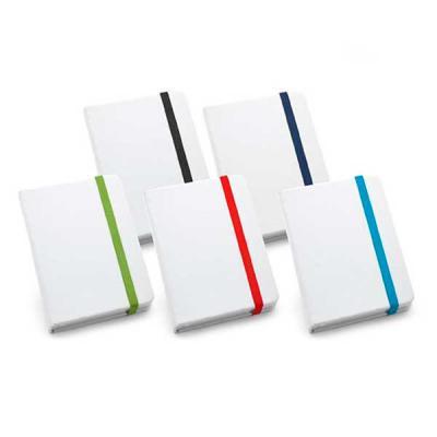 Ablaze Brindes - Caderneta personalizada, material couro sintético, aproximadamente 100 folhas não pautadas, tamanho 90x140mm