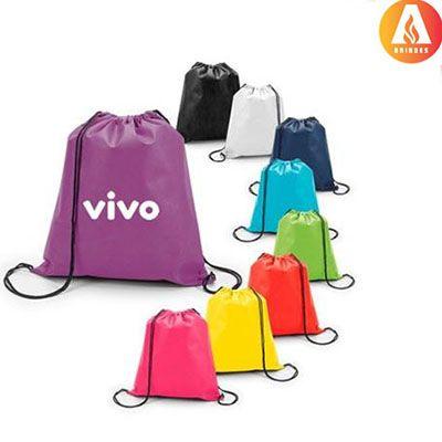 Ablaze Brindes - Saco mochila personalizado.