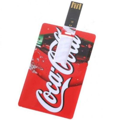 Pen card personalizado, gravação digital frente e verso sem limites de cores, disponível nas capacidades 4, 8 e 16 GB.