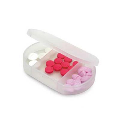 Porta comprimidos com 3 divisórias