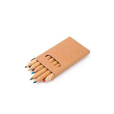 Caixa de cartão com 6 lápis de cor