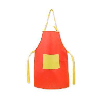 - Avental para criança com alça ajustável e 1 bolso frontal .  Material:Non-woven: 80 g/m². Tamanho:400 x 600 mm | Bolso: 200 x 150 mm
