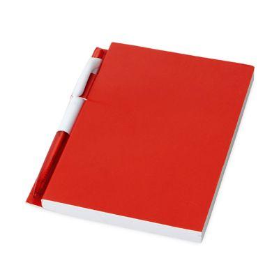 link-promocional - Caderno com 100 folhas pautadas, incluso esferográfica