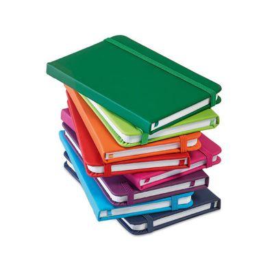 Link Promocional - Caderno capa dura em couro sintético.