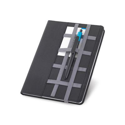Link Promocional - Caderno com capa de couro sintético com 80 folhas não pautadas