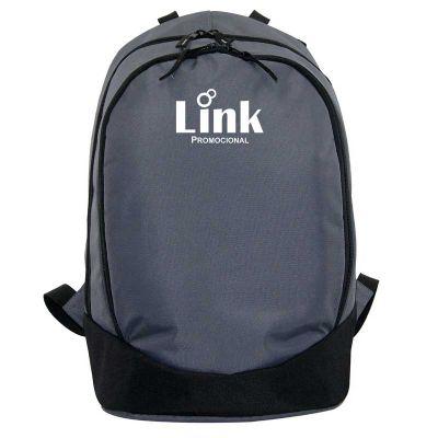 Link Promocional - Mochila com dois compartimentos, bolso frontal com zíper, divisórias e bolso interno com zíper, alça de mão em fita CA 25mm, costas, alças de ombro co...