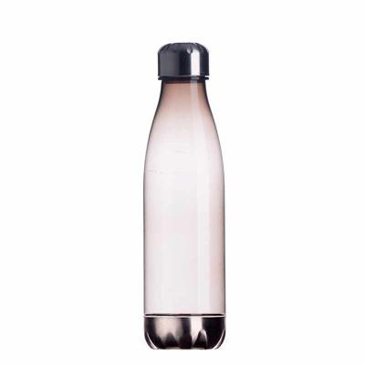 - Squeeze plástico 700ml formato garrafa. Corpo transparente colorido, possui tampa e base em alumínio.  Tamanho total aproximado  (CxL):  25,5 cm x 7,1...