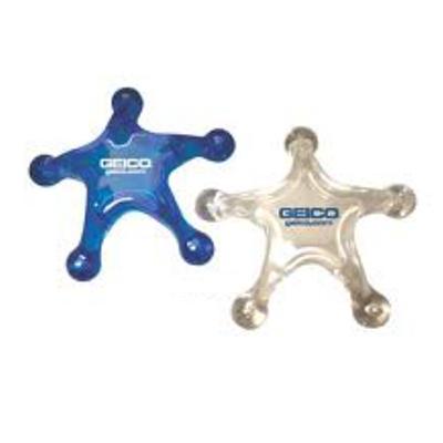 abrindes - Massageador formato estrela produzido em acrílico