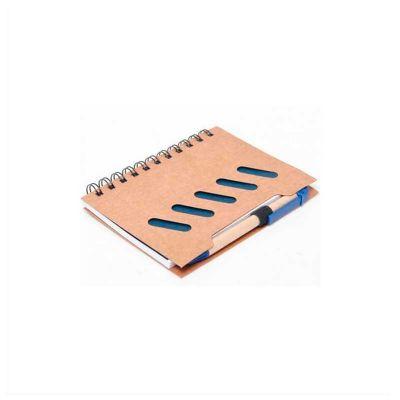 Bloco de anotações personalizado ecológico, contém aprox. 70 folhas, acompanha caneta.