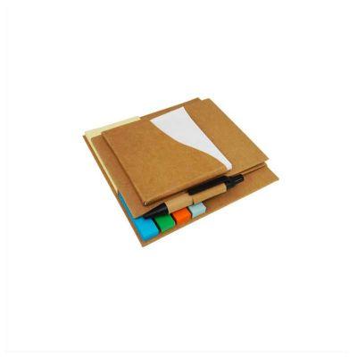 no-ato-brindes - Bloco de anotações com  sticky notes coloridos e caneta.