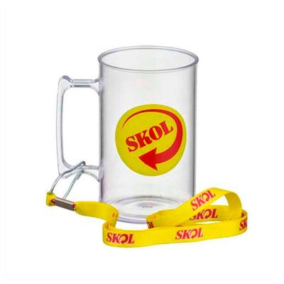 no-ato-brindes - Caneca de chopp personalizada com capacidade de 500 ml.