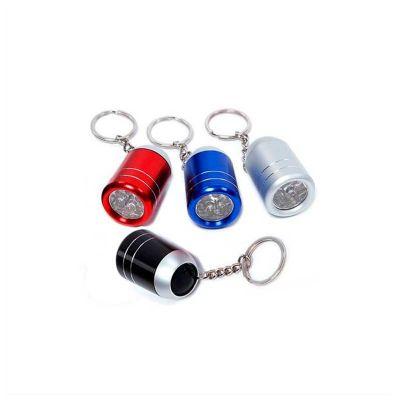 Chaveiro com lanterna. produzido em metal, acompanha 2 pilhas alcalinas AA e tem personalização da logo em laser, cores variadas - No Ato Brindes
