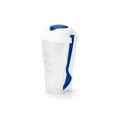 Copo personalizado para salada. resistente, útil e prático esse copo já vem com garfo e molheira. com capacidade para 800 ml é ótimo para presentear c... - No Ato Brindes
