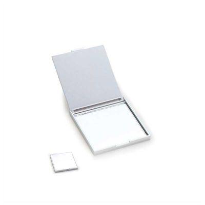 no-ato-brindes - Espelho personalizado, quadrado de bolso em plástico metalizado e resistente.
