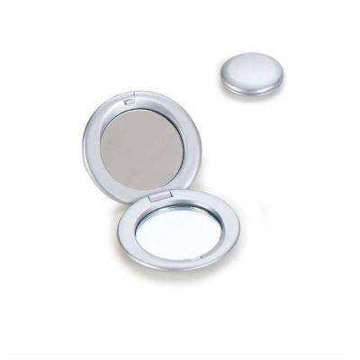 Espelho personalizado, em plástico resistente metalizado.