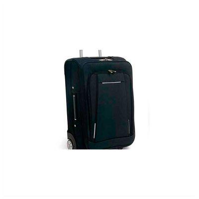 No Ato Brindes - Malas de viagem, em nylon 600 e EVA, com Rodinhas, compartimento frontal semi-rígido, pegador extensível em alumínio, com mola, 2 rodas e Interior for...
