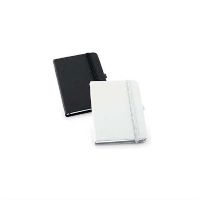 No Ato Brindes - Moleskine Personalizado para Empresas Em couro sintético, capa dura, porta caneta e 80 folhas não pautadas