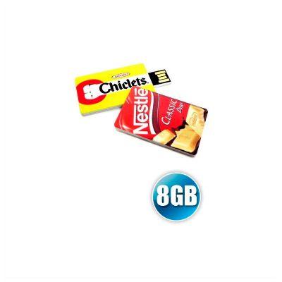 no-ato-brindes - Mini pen drive cartão, capacidade 8GB, impressão digital da logomarca. Produto embalado individualmente em sacos plásticos