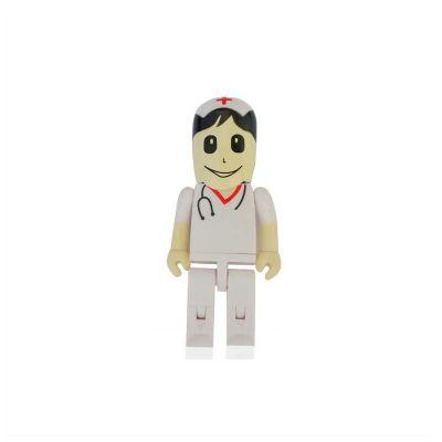 no-ato-brindes - Pen drive Promocional formato de um enfermeiro. Impressão da logomarca em tampografia em até 02 cores. Produto embalado individualmente em sacos plást...