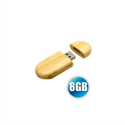 no-ato-brindes - Pen drive ecológico personalizado em madeira com 8GB.