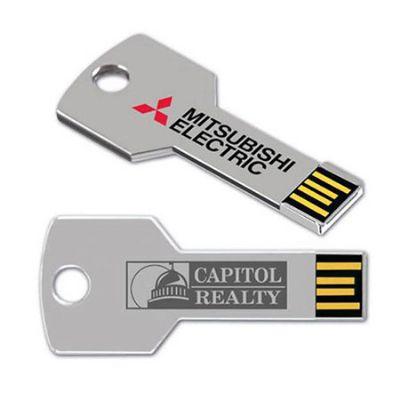 No Ato Brindes - Pen drive personalizado em formato de chave.