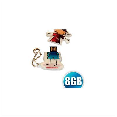 No Ato Brindes - Pen drive Customizado em acrílico, capacidade 8GB, impressão da logomarca em impressão digital