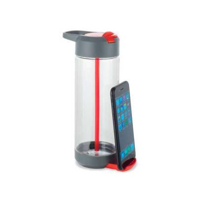 no-ato-brindes - Garrafa Squeeze com Porta Celular para Brindes