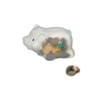 No Ato Brindes - Cofre Porquinho Plástico Personalizado