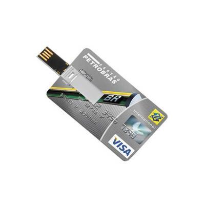 Cartão pen drive com 4 GB Personalizado - No Ato Brindes