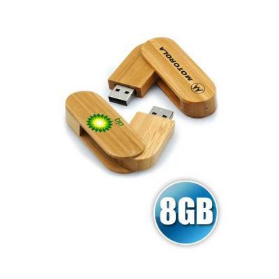 Pen drive 8 GB Ecológico Giratório para Brindes