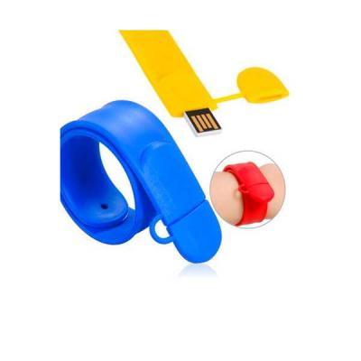 Pen Drive Pulseira Colorida Personalizada - No Ato Brindes