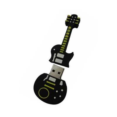 no-ato-brindes - Pen drive Emborrachado Guitarra 2D