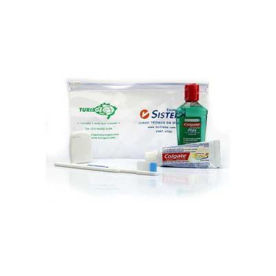 Kits de Higiene Oral. Composto de prático estojo de PVC, resistente, lavável e com ótima área para personalizar a marca. Contém um enxaguante bucal Pl...