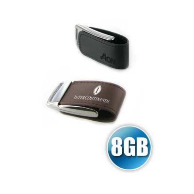 No Ato Brindes - Pen drive 8 gb em Couro com Imã Personalizado