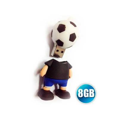 Pen drive 3D 8GB Customizado em Borracha - No Ato Brindes